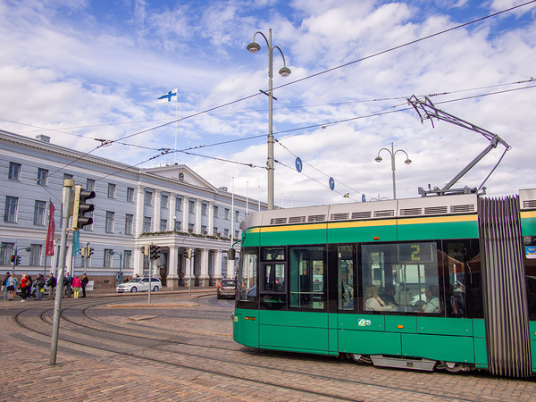 Tram 2 and Helsinki City Hall